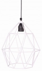 Lampa metalowa WHITE